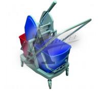 фотография Тележка уборочная двухвёдерная Ksitex 045В 9