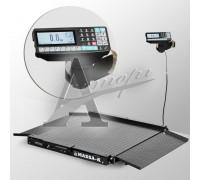 Весы низкопрофильные 4D-LA-2-1000-RP (1000х1000 мм) пандус, констр. сталь, печать этикетки