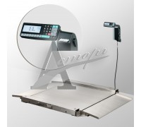 фотография Весы низкопрофильные 4D-LA.S-10/10-1000-RL (1000х1000 мм) пандусы, нерж. сталь, печать этикетки 13