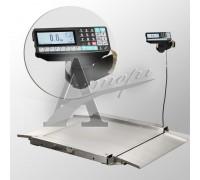 фотография Весы низкопрофильные 4D-LA.S-10/10-1000-RP (1000х1000 мм) пандусы, нерж. сталь, печать этикетки 14