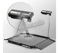 Весы низкопрофильные 4D-LA-2-1000-A (1000х1000 мм) пандусы, констр. сталь