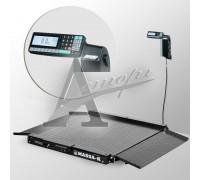 Весы низкопрофильные 4D-LA-2-1500-RL (1000х1000 мм) пандус, констр. сталь, печать этикетки