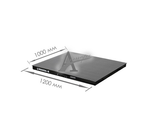 Весовая платформа 4D-PМ-2-1500 (1200х1000x75мм) конструкц. сталь