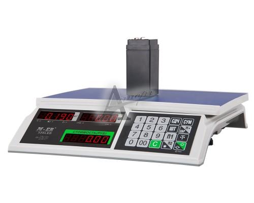 """Торговые настольные весы M-ER 326AC-15.2 """"Slim"""" LCD Белые"""