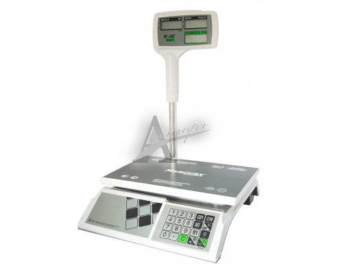 """фотография Торговые настольные весы M-ER 326ACPX-15.2 """"Slim'X"""" LCD Белые 13"""