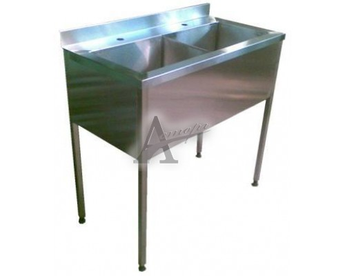 Ванны моечные трехсекционные ВМн3.600 (1800х600х860 гл.300)п/б