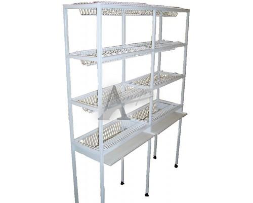 Стеллаж для кухонной посуды ССП1.600 (600х300х1700мм) краш.