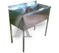 Ванны моечные трехсекционные ВМн3.500 (1500х500х860 гл.300) п/б