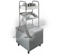 фотография Прилавок для подносов и столовых приборов Rada ПП-2-6/7СХ 1