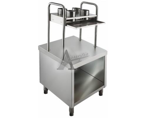 фотография Прилавок для подносов и столовых приборов Rada ПП-1-6/7СН Дана 1