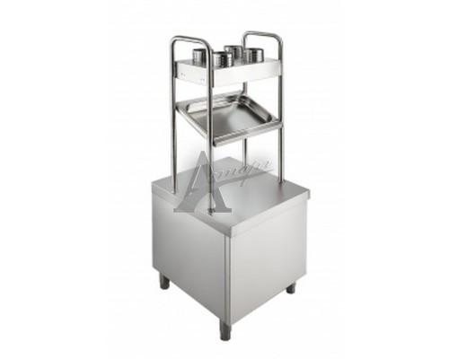 фотография Прилавок для подносов и столовых приборов Rada ПП-2-6/7СХН 2