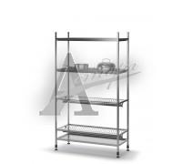 Стеллаж кухонный для тарелок и стаканов ТММ СКПТС-940/400