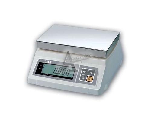 Фото Весы порционные электронные CAS SW-I-10 (нерж. платформа) 11