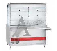 фотография Прилавок-витрина холодильный ПВВ(Н)-70КМ-С-01-НШ вся нерж. 13