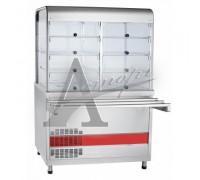 Прилавок-витрина холодильный ПВВ(Н)-70КМ-С-02-НШ вся нерж.