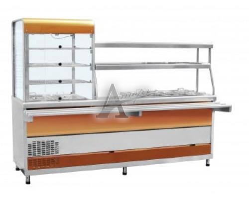 фотография Прилавок-витрина холодильный мармитный универсальный ПВХМ-70КМУ 3