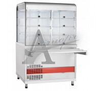 Прилавок-витрина холодильный ПВВ(Н)-70КМ-С-НШ вся нерж.