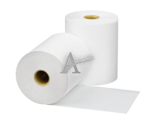 Фотография Чековая лента из термобумаги 44 мм (диаметр 43 мм, намотка 30 м, втулка 12 мм, 15 штук в упаковке) 1