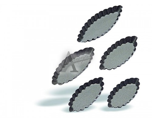 фотография Форма Pujadas (лодочка, овал, рифленая) 716.008 (8х4 см) 10