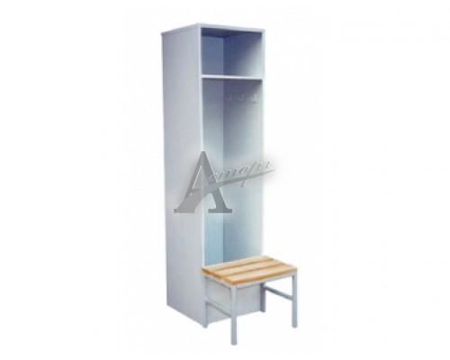 фотография Шкаф гардеробный для спортивных раздевалок со скамьей ШГС-1900/500/500 10