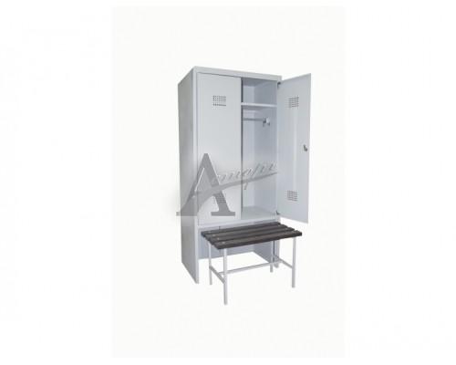 фотография Шкаф гардеробный с выдвижной скамьей ШГС/600 СК (1850х600х500) 11