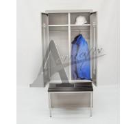 фотография Шкаф гардеробный с ящиком под обувь и выдвижной скамьей ШГС/800 ВСК 11