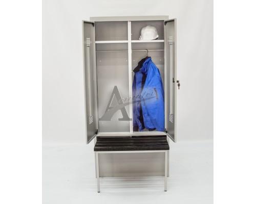 фотография Шкаф гардеробный с ящиком под обувь и выдвижной скамьей ШГС/800 ВСК 14